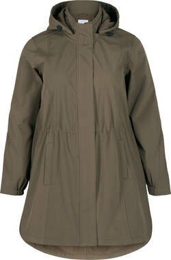 Long softshell coat