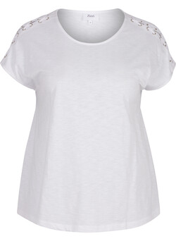 T-shirt met lace-up detail