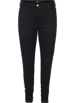 Super slim jeans med knapper