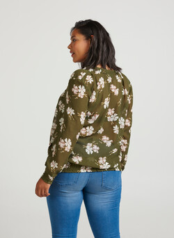 XMARLEY SMOCK, L/S, BLOUSE