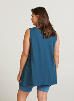 Mouwloze basic blouse